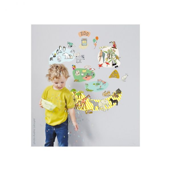 Sticker zoo bambins d co for Decoration chambre zoo