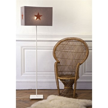 Lampe de chevet taupe paillettes orange