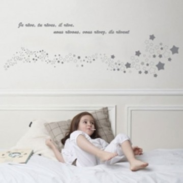sticker chambre enfant t te de lit r ve bambins d co. Black Bedroom Furniture Sets. Home Design Ideas