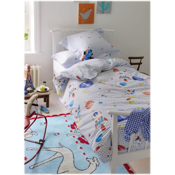 Housse de couette enfant to the moon bambins d co for Housse de couette enfants