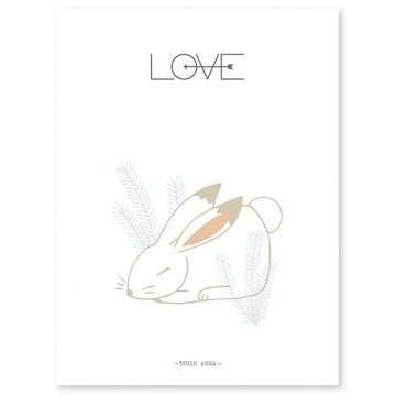 Affiche Lapin Love