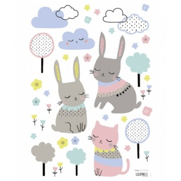 Sticker Happy Clouds Lapin