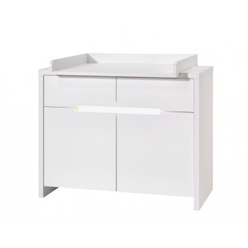 Commode à langer Poppy White