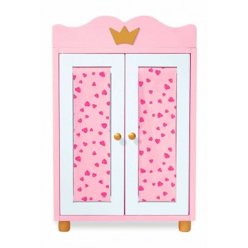 armoire de poup e princesse bambins d co. Black Bedroom Furniture Sets. Home Design Ideas